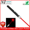 5MW 650nm Red Laser Pen,1pcs Black Strong Visible Light Beam Laserpointer,Powerful Military Laster Pointer Pen