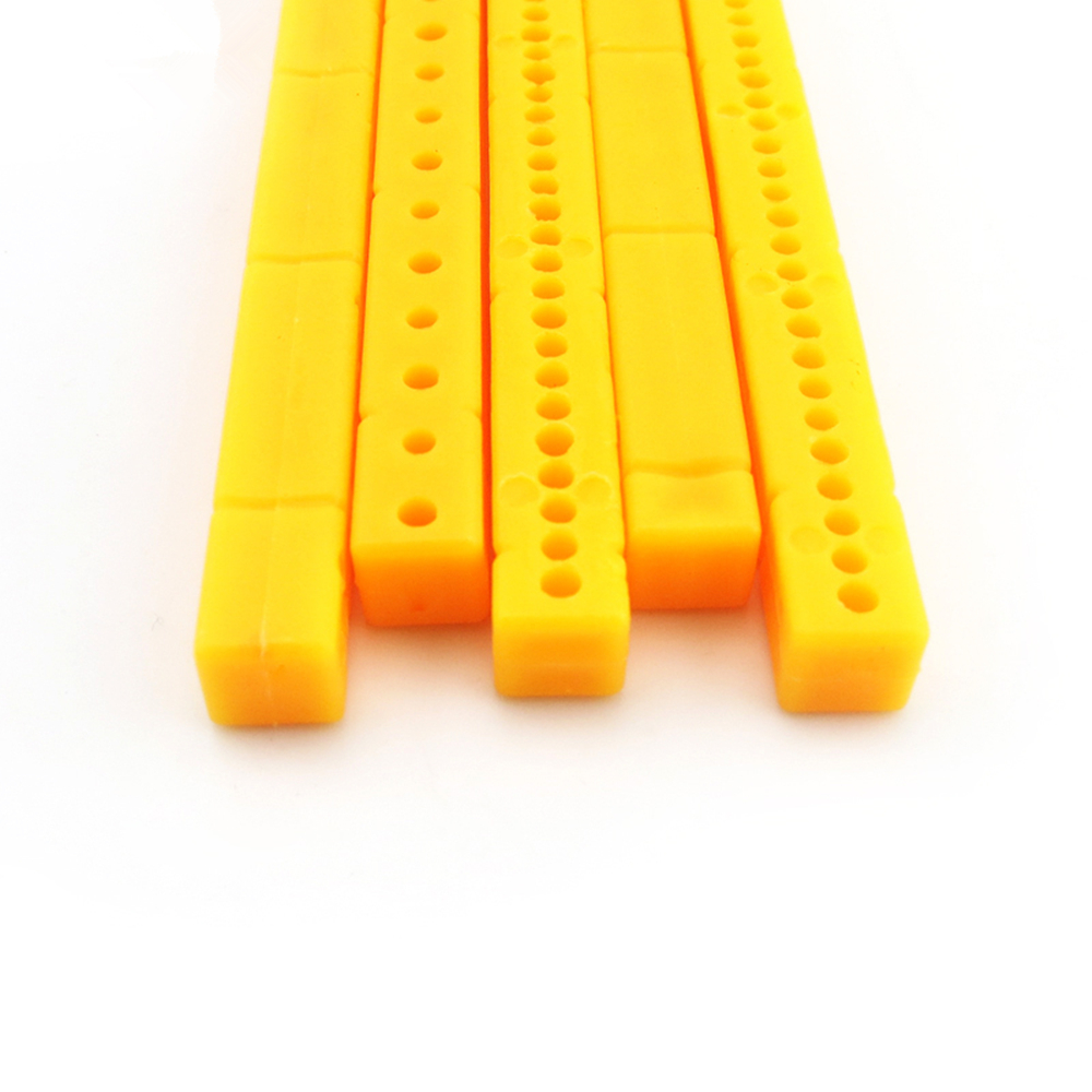 10 Stücke Gelb Farbe 95mm Kunststoff Stick Multi-blende Kunststoff Verbinden Stange Diy Modell Auto Rahmen Stick