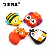 Funny animals Usb flash drive 128gb 64gb 32gb 16gb 8gb 4gb lovely pendrive usb stick mini memory stick pen drive flash disk(China)