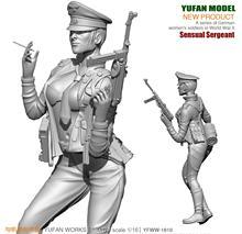 Yufan Model 1/18  Resin Kits Figure  Sexy Women Officers Resin Soldiers  Model  Self-assembled 90mm YFWW-1810