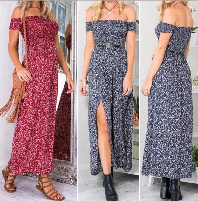 Women Strapless Summer Dress 1