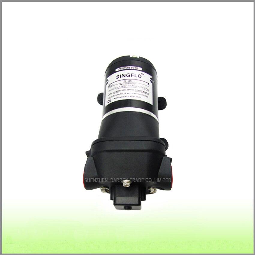ФОТО 1PC 24v 12.5L/min 35psi Washdown Pump for RV/Marine Demand Diaphragm Water Pump,Low noise Exquisite workmanship