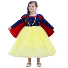 Fairy Tale Princess Dress Girls Halloween Cosplay Costume 3pcs Set Kids Snow White Fancy up Cute