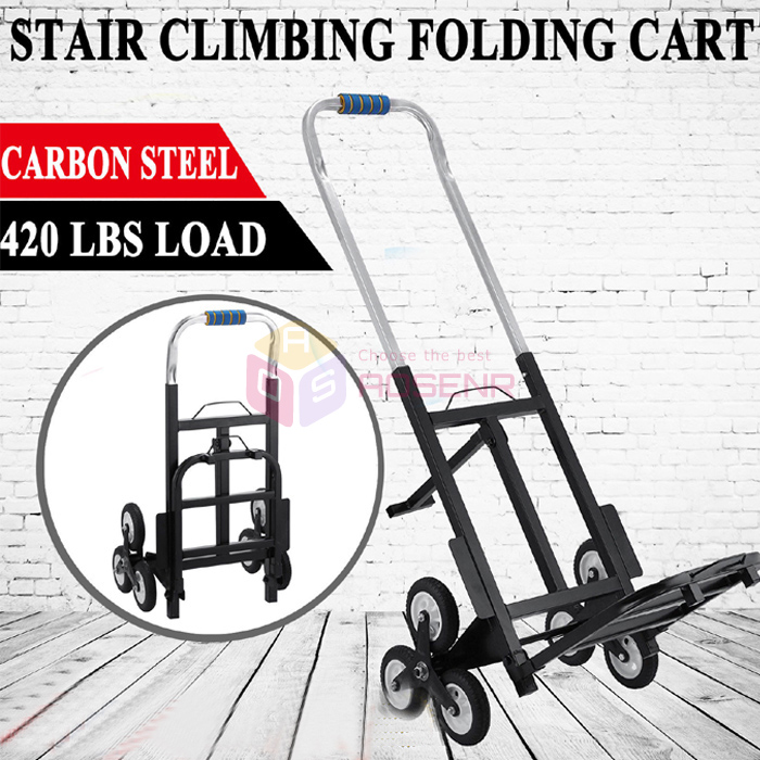 US $99 99 |Portable Six Wheeled Stair Climber Cart 420 lb Capacity All  Terrain Stair Trolley Climbing Hand Truck Folding Stair Hand Truck-in Tool
