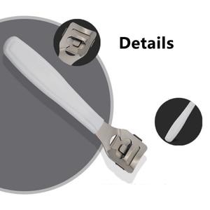 Image 5 - حار المهنية العناية بالقدم بشرة من الفولاذ المقاوم للصدأ مزيل الجلد الميت إزالة باديكير الجلد الصلب ماكينة حلاقة