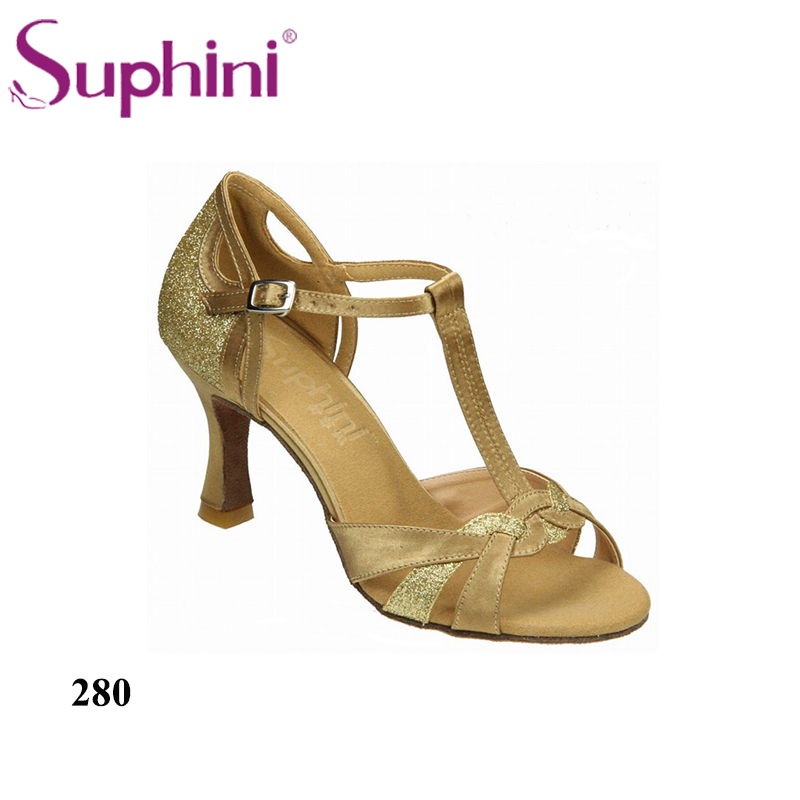 Suphini Ballroom Dance Shoes Women Simple Style Latin Shoes Black Woman Dance Shoes Social Dance Shoes Free Shipping free shipping suphini you can choose heels latin dance shoes basic model woman latin dance shoes