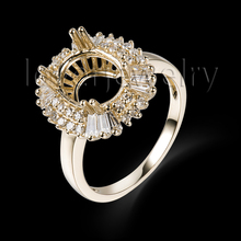 Natural Diamond Setting Ring Solid 14Kt Yelloe Gold,Oval Cut 8x10mm Semi Mount Ring For Sale SR0002