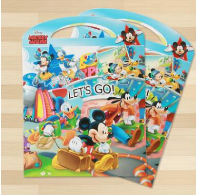 US $9 81 25% OFF|Disney Kids sticker Mickey Mouse minnie Children Puzzle  handmade stickers book sticker cartoon pegatinas autocollant enfant-in