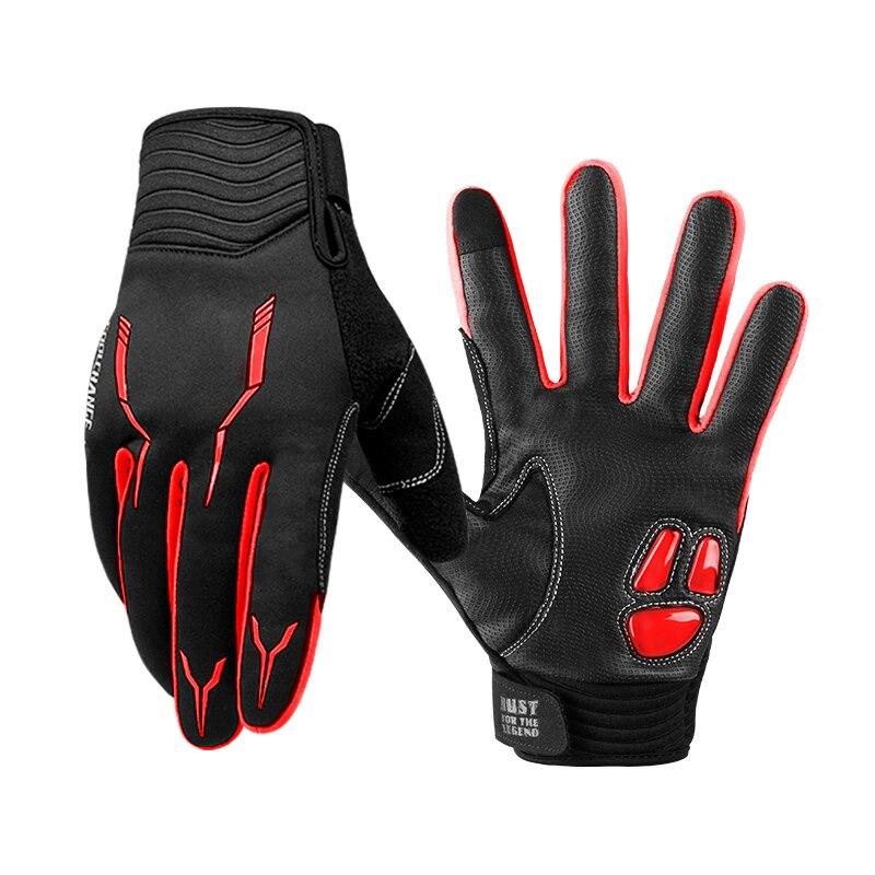 CoolChange Thermische Fleece Radfahren Handschuhe Winter mit GEL Pad Winddicht Fahrrad Handschuhe Outdoor Sport MTB Fahrrad Handschuh für Männer Frauen