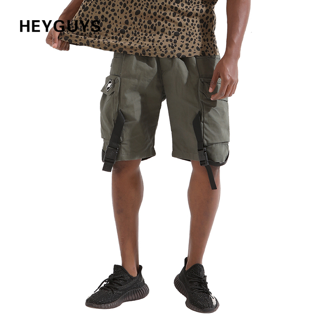 ca6df81983f HEYGUYS 2018 Hot Sale pure Men s Summer Fashion sweat Shorts Casual Waist  Trousers Sweat Shorts pure hip hop streetwear