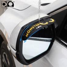 цена на Car Rearview mirror rain shield sticker National flag cartoon design classic style fit for Toyota Mazda Honda Volkswagen Hyundai
