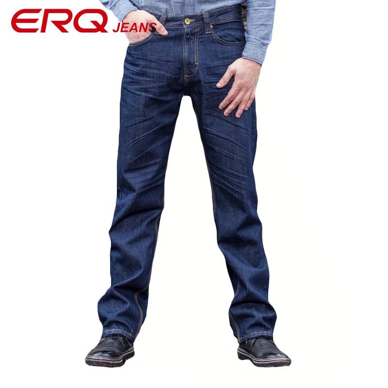 ERQ 2017 New design Spring Famous Brand Men Slim Jeans male 100% Cotton Straight Pants Long denim Trousers 11366
