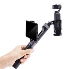 Pgytech para gopro hero 9 dji osmo bolso 2 osmo móvel 4 câmera de ação aperto mão tripé extensão pólo para gopro9 xiaomi yi