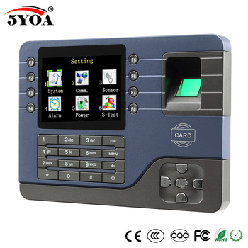 TCP IP Biometric Fingerprint Time Attendance Clock Recorder Employee  Digital Electronic English