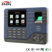 TCP IP Biometric Fingerprint Time Attendance Clock Recorder Employee Digital Electronic English Reader Machine USB RFID ID Card