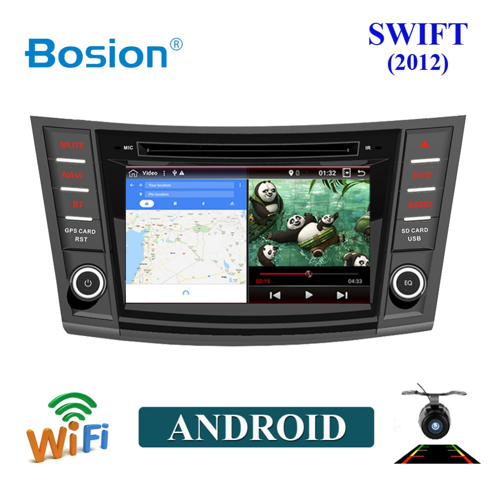 "bosion 7"" HD Android Car DVD For Suzuki Swift 2012 Auto Radio FM RDS Stereo Audio Video GPS Navigation HEAD UNIT Backup Camera"