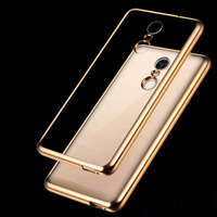 Note4 Note4X Case Ultra Thin Plating Crystal Clear Soft TPU Cover For Xiaomi Redmi Note 4