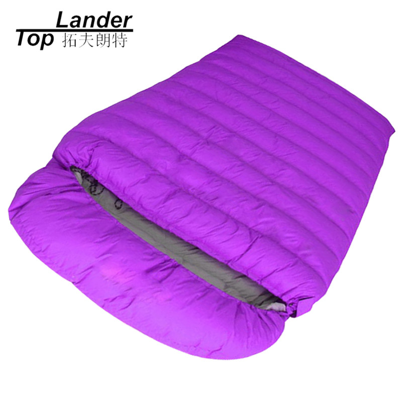 Winter Camping Sleeping Bags Double Couple Envelope Sleeping Bags Feather Adult Hiking Duck Down Double Sleeping Bag west biking camping sleeping bag lunch adult sleeping bag can fight double sleeping spring autumn and winter thick sleeping bag