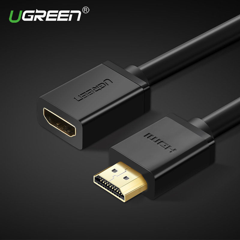 Ugreen HDMI extension cable 1080P 3D HDMI male to female extender for Computer/HDTV/Laptop/Projector in audio video Cable 5m hdmi v1 4 female to female f f coupler extender adapter plug for hdtv hdcp 1080p hdmi cable extension connector converter 1pc