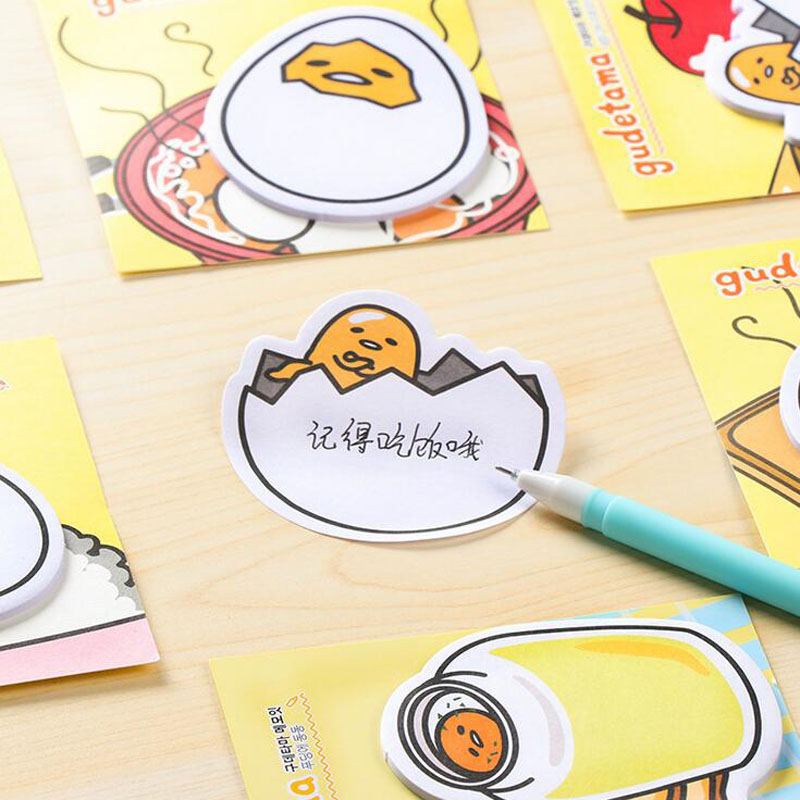 2X Cute Kawaii Gudetama Lazy Egg Self-Adhesive Memo Pads Sticky Notes Decorative Bookmark School Office Supply