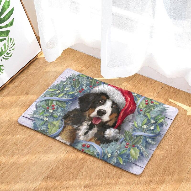 christmas animals funny cat dog doormat bath mats foot pad home decor bathroom mats door mat