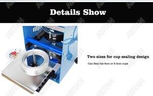 Image 4 - WY802F manuel bardak yapıştırma makinesi plastik veya kağıt kabarcık çay bardağı mühürleyen 220V 110V