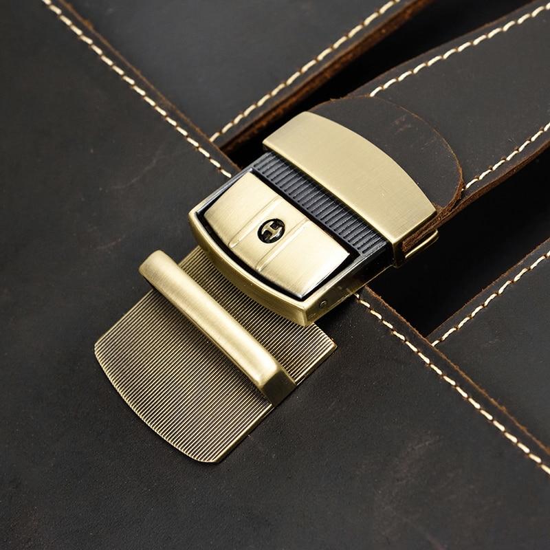 "HTB1XJFOXyfrK1RjSspbq6A4pFXaj Vintage Men's Genuine Leather briefcase 16"" Cowhide Business bag Cow leather Laptop Double Layer messenger bag PC work tote"