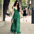 2017 New Women Bohemian Chiffon Sling Large Size Beach Vacation Beach Dress