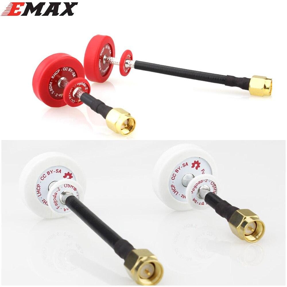 2 stücke Ursprünglichen Emax Pagode 2 5,8 GHz 50mm 80mm RHCP LHCP FPV Antenne SMA Steckverbinder