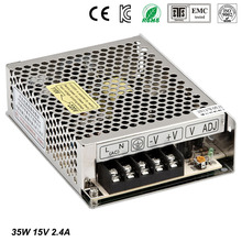 Best quality 1V 2.4A 35W Switching Power Supply Driver for LED Strip AC 100-240V Input to DC 15V free shipping стоимость