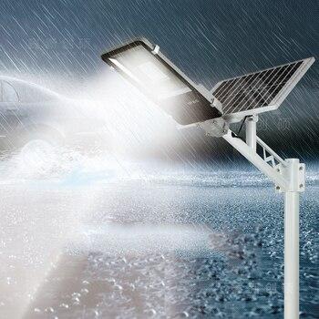 Led שמש רחוב אור חיצוני Led שמש אור עמיד למים שמש פנל שלט רחוק 100 W שמש Led רחוב אור גן מנורה
