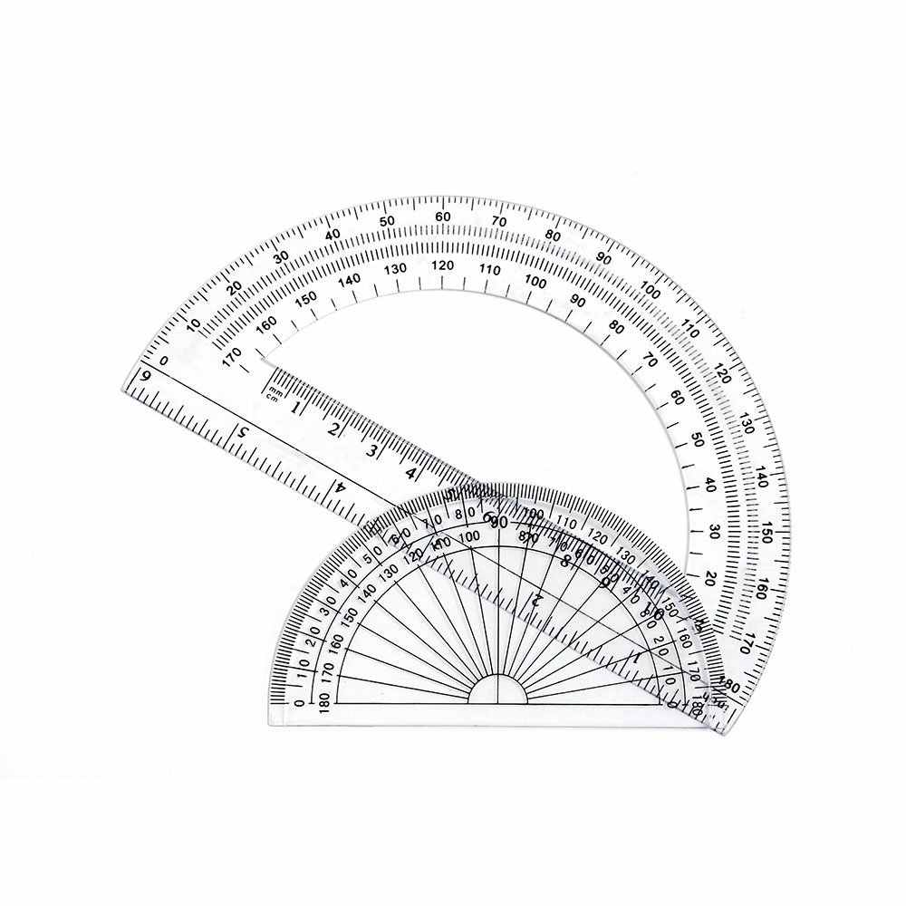 22 Pack Plastic Protractors  Inches And 4 Inch Clear
