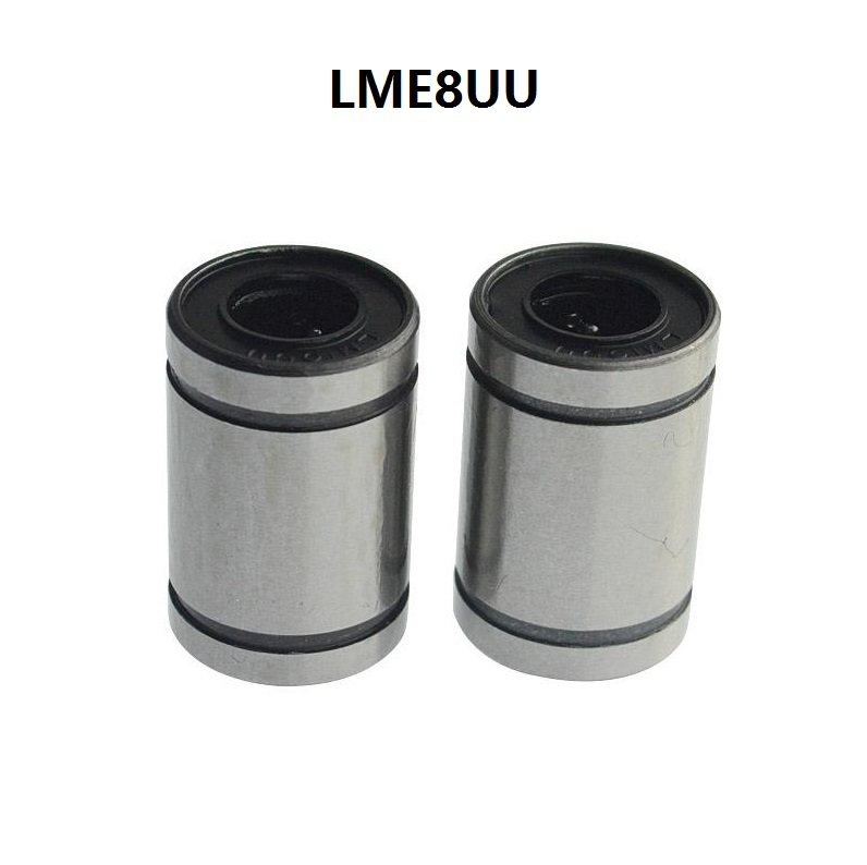 2pcs LME8UU 8mm Linear Ball Bearing Bushing Linear Motion Bearing 8x16x25 mm