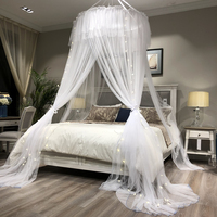 Princess Style Hung Dome Mosquito Net Round Lace Curtain For Home Textile Bed Canopy Crib Polyester Mesh Tent Girls zanzariera