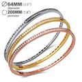 Super Sell  Gold Plated Bangles for women AAA Cubic Zirconia Luxury Jewelry Allergy Free Cadmium Free