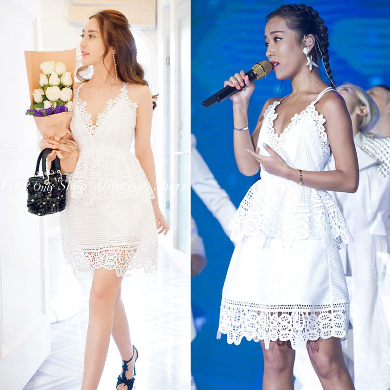 434021d524497 New 2016 self portrait Blue White Lace Trimmed Peplum Strap Back Strappy  Mini A Line Short Dress Free Shipping Vestidos on Aliexpress.com | Alibaba  Group