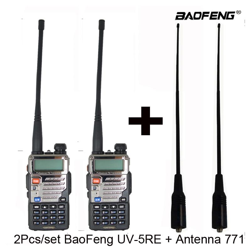 2pcs set BaoFeng UV 5RE Walkie Talkie UV 5RE Two Way Radio UV5RE Radio Two way
