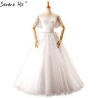 White Sexy Simple Lace Wedding Dresses 2017 Real Picture Short Sleeves Vintage Bridal Wedding Gown Vestido