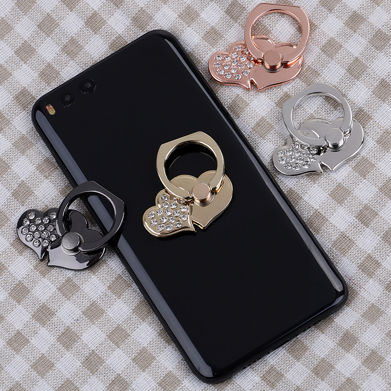 Cellphones & Telecommunications Mobile Phone Holders & Stands Intelligent Diamond 360 Degree Double Heart Shape Mobile Phone Stand Cell Phone Holder Convenient Multi Colors Finger Grip Secure Bracket Regular Tea Drinking Improves Your Health
