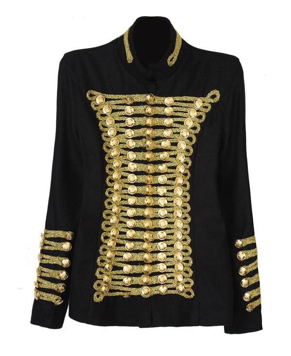 Manteau Automne argent D'hiver Femme Militaire De 2017 Mode Luoanyfash Laine rouge Gold Et Conception Christmasgold Étoiles Bouton Vestes 5w7qxp