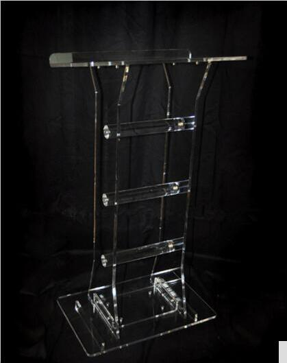 Wholesale Clear Fixture Displays Plexiglass Customized Acrylic Lectern Crystal Podium Acrylic Podium Clear Lectern Church Pulpit