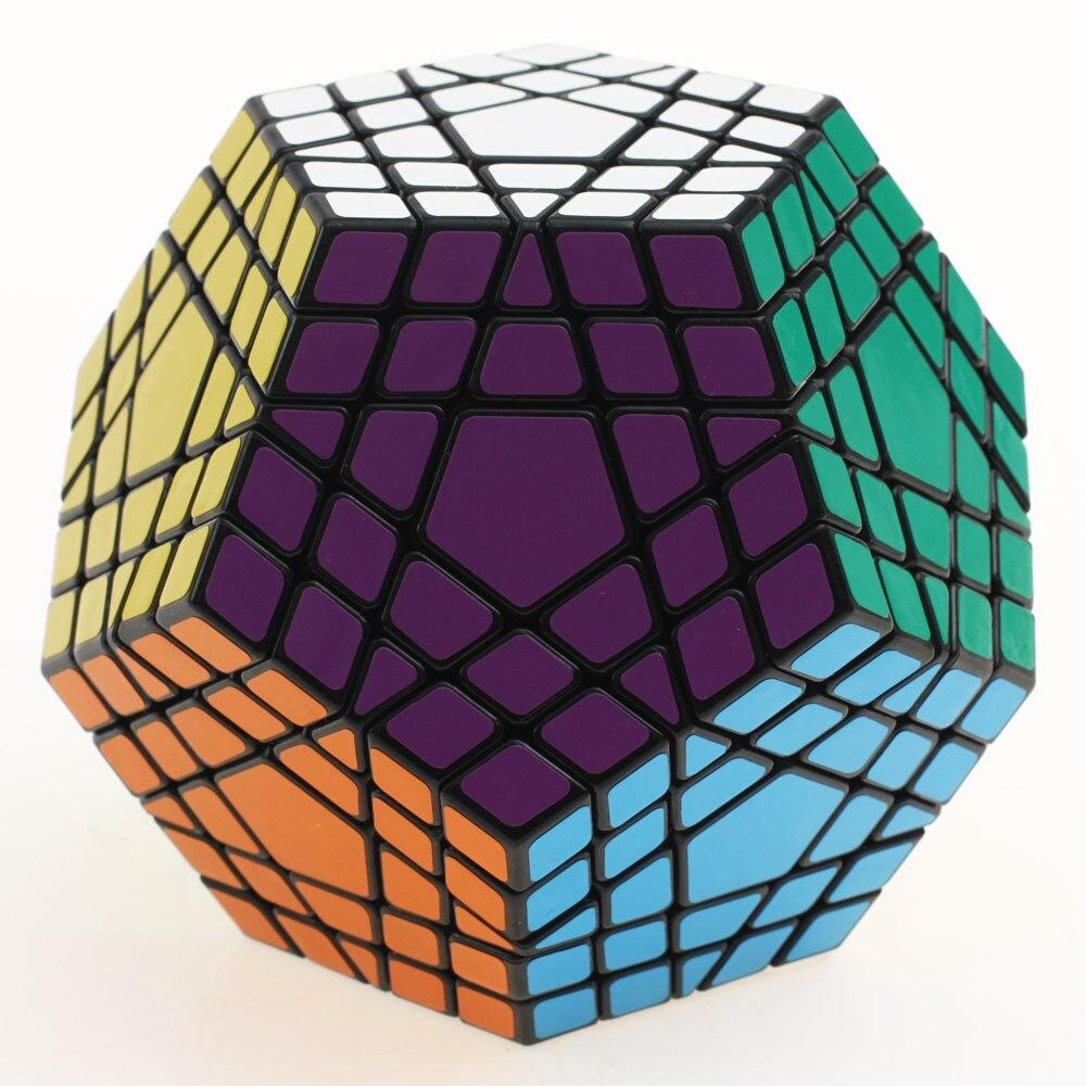 Shengshou 5x5 Gigaminx Cube magique Puzzle noir et blanc Dodecahedron 5x5 vitesse Cube jeu d'apprentissage & éducatif Cubo magico jouets - 3
