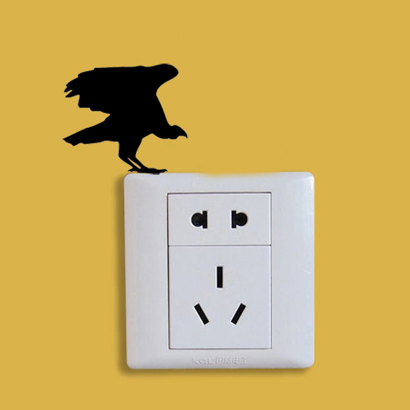 Vulture Silhouette Fashion Switch Sticker Decal Vinyl Home - Vinyl-decals-to-decorate-light-switches-and-outlets