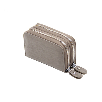 Business Colorful Women's Genuine Leather Wallet Bags and Wallets Hot Promotions New Arrivals Women's Wallets Color: Grey Ships From: China