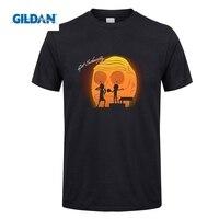 GILDIAN Rick Và Morty Có Được Schwifty Nhạc T Shirt Men Boy hoạt hình Người Đàn Ông Áo Thun Ngắn Tay Áo Giản Dị Hoa Văn Đơn Giản Tees O Meck nam