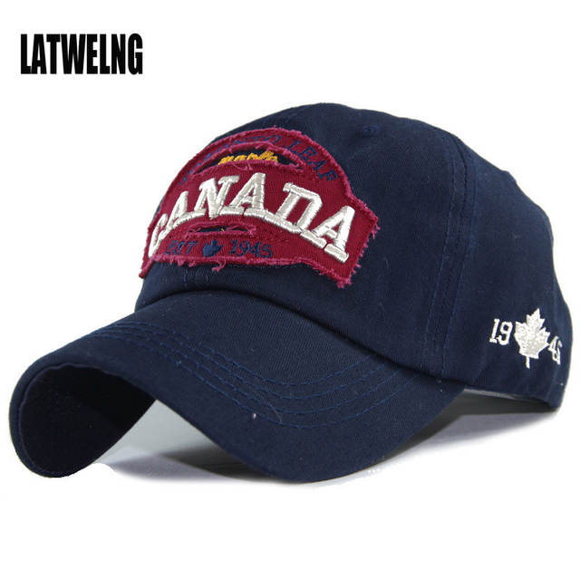 40a749a7c226f Online Shop 2017 High Quality Brand Dad Hat CANADA Letter Snapback Cap  Embroidery Baseball Caps For Men And Women Bosco Sport Visor Hats