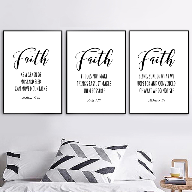 Bible Verse Typography Matthew Quotes Canvas Painting Pictures Faith Scripture Christian Posters Print Home Wall Art Decor image