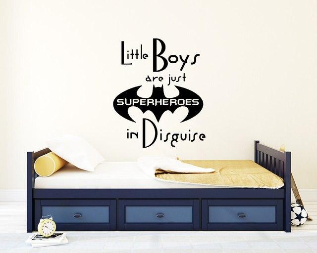 muursticker kids slaapkamer quotes kleine jongens zijn gewoon superheros wall art decal woondecoratie kids jongens muurstickers