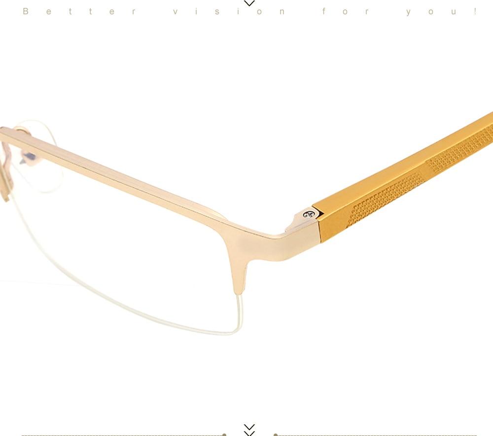 Eyewear Square Gaming Computer Glasses Women Men Blue Semi-rimless Light Glasses Comfortable Blue Glasse (12)