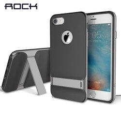 Rock pour iphone 7/7 plus coque de téléphone royce support de béquille cadre PC + TPU coque arrière couverture de luxe pour étui iphone 7